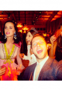 At a wedding with Katy Perry and Jessica Alba