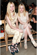 With Dakota Fanning in 2011