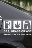 "21. Stickers of any kind on your car – especially ""magic happens""."