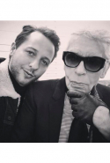 With Karl Lagerfeld