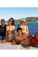 And Sofia hangs out on yachts with Alessandra and fellow model Xavier Serrano, too.