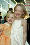 With Dakota Fanning in 2003