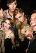 At the Met Ball with Miley Cyrus, Karen Elson, Karlie Kloss, Emma Roberts, Cara Delevingne and Rita Ora