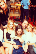 With Joan Smalls, Karlie Kloss, Andreea Diaconu, Lily Donaldson, Anja Rubik and Constance Jablonski