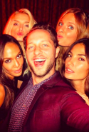 With Joan Smalls, Lily Donalson, Constance Jablonski and Lily Aldridge