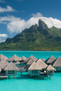 Miri Miri Spa by CLARINS, The St Regis, Bora Bora:  You had us at lagoons and gently rustling palms. Clarins brings French sophistication to healing, Polynesian botanicals and ancient Tahitian rituals, with spa rooms overlooking Bora Bora's startling turquoise lagoon and mystical Mount Otemanu.