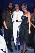 With Jared Leto and Cara Delevingne. July 2014