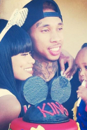 Tyga and Blac Chyna even have a kid together, a three year old boy named King Cairo (fun fact: Kylie's nickname is King Kylie - creeeeepy).