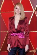 Emma Stone: Oscar-winning actress, women's cancer awareness campaigner, women's rights activist (image: Kevork Djansezian/Getty)