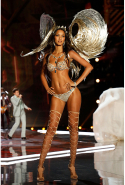 Lais Ribeiro wearing the 'Fantasy Bra' (image: Getty)