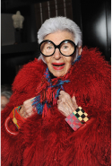 Iris Apfel: fashion icon, interior designer (image: Wendell Teodor/Getty)