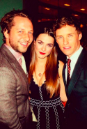 With Bee Shaffer and Eddie Redmayne