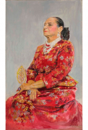 Monday, November 7: Seeking some boss bitch inspiration for a Monday? The National Portrait Gallery in Canberra has just put this magnificent portrait by Graham Sutherland of self-made millionaire and beauty mogul Helena Rubinstein, wearing her chic Balenciaga gown, on display. Bow.
