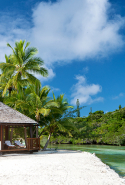 Le Méridien Ile des Pins, New Caledonia:   South Pacific languor by the lagoon has a French flavour in New Caledonia's own barrier reef on Oro Bay Beach. Of course there's an éclair bar - but find redemption with watersports and the spa's deep tissue massages.