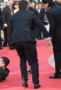 When America Ferrara posed for photographs on the red carpet during Cannes film festival in 2014, Vitalli was caught crawling under America's dress. Even when co-stars (oh hey Kit Harrington) and security jumped in, Vitalli continued to latch onto her ankle as he was getting hauled away. Get a life pal.