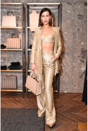 Bella Hadid at the Max Mara store opening party in New York