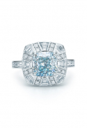 The 2.52-carat blue diamond ring