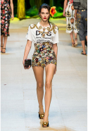 Dolce & Gabbana: logo mania matched with embellished hotpants