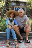 But she's a family girl at heart (pictured here with Papa Rata and the family pooch).