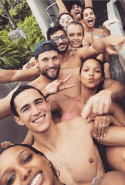 Lais Ribeiro, Sara Sampaio, Josephine Skriver and Jasmine Tookes all headed to Thailand, along with their significant others and took a snap riding down a giant waterslide together. #HolidayGoals #SquadGoals