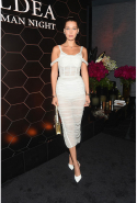 Bella Hadid at the Bulgari fragrance launch in New York