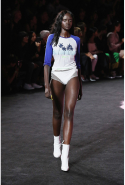 Duckie Thot: The ANTM contestant was busy in New York, walking for Fenty x Puma, House of Holland, Baja East and Helmut Lang. Thot has walked in 7 shows this Fashion Week season.
