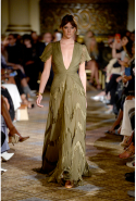 Montana Cox: Cox walked the runway for Dennis Basso in New York.