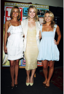 With Kirsty Lee Allan and Jessica Marais at the Logie Awards nomination, March 30 2009
