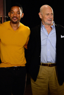 At a 'Focus' session with Will Smith, Gerald McRaney and Rodrigo Santoro in Buenos Aires, November 20, 2013