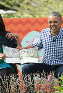 The Obamas read Maurice Sendak's 'Where the Wild Things Are' to children at the annual Easter Egg Roll at the White House in Washington, DC, on March 28, 2016