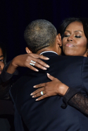 Moments after Obama delivered his farewell address as President in Chicago, Illinois on January 10, 2017