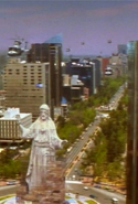 The 'huge' statue of Jesus in the film was in fact only two feet tall.