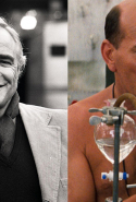 Marlon Brando (left) expressed interest in playing the part of Father Lawrence but pulled out citing personal family problems. The part went to British actor Peter Postlethwaite (right).