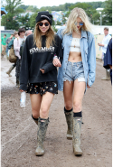 Suki Waterhouse and Lily Donaldson