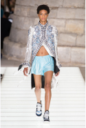 "Nicolas Ghesquière mixed modern with medieval for Louis Vuitton's S/S '18 runway. In an interview after the show Ghesquière said: ""I thought anachronism was interesting. How today can we incorporate pieces considered as costume into an everyday wardrobe?"""