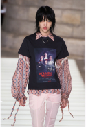 Perhaps the most Ghesquière inclusion was a Stranger Things t-shirt. The designer has long been a fan of the show, even inviting the young cast members to the Louis Vuitton headquarters last year.