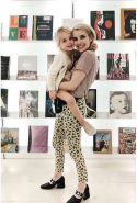 Emma Roberts in Manning Cartell pants.