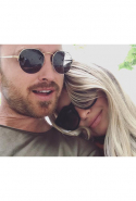 Aaron Paul and Lauren Paul