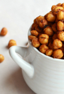 Chickpeas contain minerals that detoxify skin, help repair sun damage and fight the good wrinkle fight.