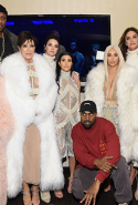 With the Kardashian/Jenner clan at the Kanye West Yeezy Season 3 show in New York in February