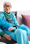 """Never be afraid to stop traffic."" - Iris Apfel"