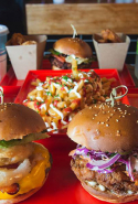 Miss Kay's, CBD, Brisbane: Kicking up the burger stakes to new levels in Brisbane's city centre, Miss Kay's manfully and ironically answers the patty between two buns question.