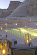 Amangiri Desert Lounge, Utah, USA. Pared-back tones courtesy of the Utah desert are easy on the eye for this non-dusty dining experience in the Desert Lounge at the Amangiri resort.