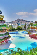 Ibiza, Spain: A favoured celebrity playground due to the pumped-up nightlife and beautiful beaches. Who plays here? P. Diddy, Kylie Minogue, Naomi Campbell, Jon Bon Jovi. It was also the backdrop to that highly publicised Bloom vs Bieber fracas.