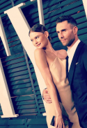 Behati Prinsloo Levine and Adam Levine