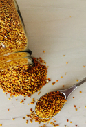 Bee pollen. Extremely rich in highly digestible protein, B vitamins and enzymes, this one is great for promoting perfect skin.
