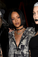 Gigi Hadid, Rihanna and Bella Hadid at the Fenty x Puma show