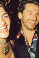 Helena Christensen and Michael Hutchence