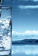 Mineral water. A textbook supermodel diet includes lots of pure water to hydrate and detoxify the body.
