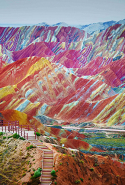 6. Zhangye Danxia Landform, China.